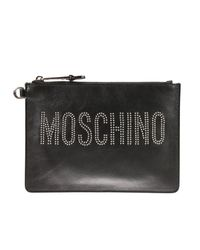 Moschino Couture | Black Clutch Handbag Woman | Lyst