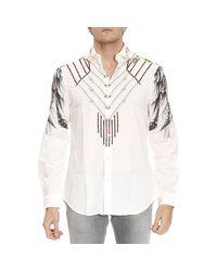Roberto Cavalli | White Shirt Men for Men | Lyst