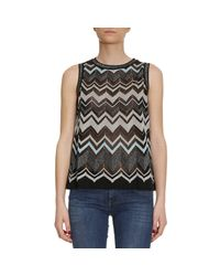 M Missoni | Black Top Women | Lyst