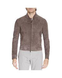 Emporio Armani | Gray Jacket Men for Men | Lyst