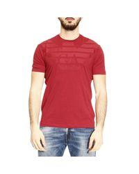 Emporio Armani | Red T-shirt Men for Men | Lyst