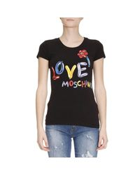 Love Moschino | Black T-shirt Women | Lyst