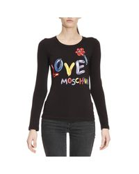 Love Moschino | Black T-shirt Women | Lyst