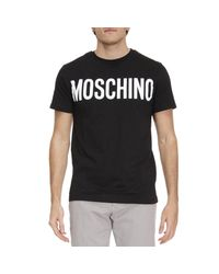 Moschino | Black T-shirt Men for Men | Lyst