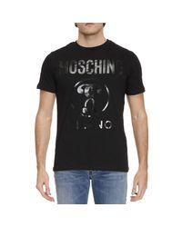 Moschino | Black T-shirt Men for Men | Lyst