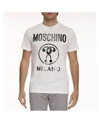 Moschino - White T-shirt Men for Men - Lyst