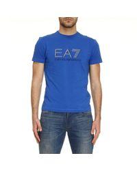 EA7 | Blue T-shirt Men Ea7 for Men | Lyst