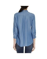 Armani Jeans - Blue Shirt Women - Lyst