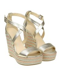 Jimmy Choo - Metallic Wedge Shoes Women - Lyst