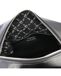 Pinko - Women's Black Leather Backpack - Lyst