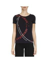 Armani Jeans | Blue T-shirt Women | Lyst