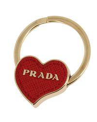 Prada - Red Key Chain Women - Lyst