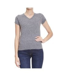 Emporio Armani - Gray Sweater Woman - Lyst
