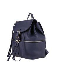 Ferragamo - Blue Backpack Shoulder Bag Women - Lyst