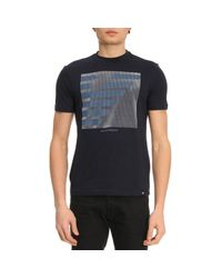 Emporio Armani - Blue T-shirt Men for Men - Lyst