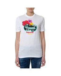 DSquared² - White T-shirt Women - Lyst