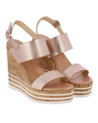 Hogan - Pink Wedge Shoes Women - Lyst