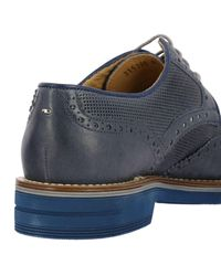 Brimarts - Blue Brogue Shoes Shoes Men for Men - Lyst