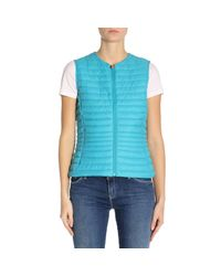 Save The Duck - Blue Waistcoat Women - Lyst