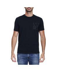 Emporio Armani - Blue T-shirt Men for Men - Lyst