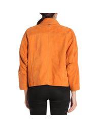 Jeckerson - Orange Jacket Women - Lyst