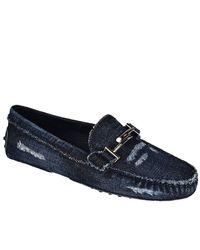 Tod's - Blue Loafers Women - Lyst
