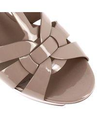 Saint Laurent - Pink Tribute Leather Sandals - Lyst