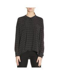 Emporio Armani - Black Shirt Women - Lyst