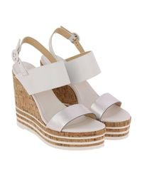 Hogan - White Wedge Shoes Shoes Women - Lyst