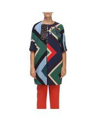 Marina Rinaldi China Blue Short Sleeve Coat