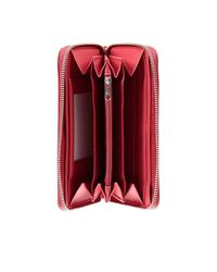 Armani Jeans - Red Wallet Patent Zip Around With Strass - Lyst