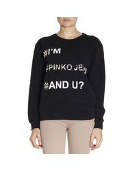 Pinko - Black Sweatshirt Sweater Women - Lyst