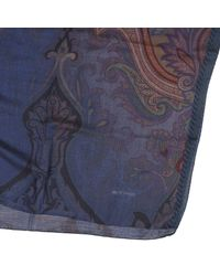 Etro - Blue Scarf Men for Men - Lyst