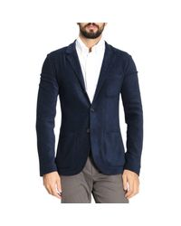Giorgio Armani - Blue Blazer Men for Men - Lyst