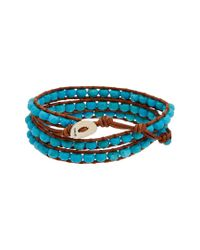 Chan Luu - Blue Silver Turquoise Wrap Bracelet - Lyst