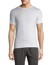 Hanro | White Knit Crewneck T-shirt for Men | Lyst