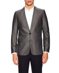 Dior Homme | Gray Solid Notch Lapel Sportcoat for Men | Lyst