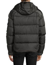 Sam. - Gray Quilted Hooded Puffer Jacket for Men - Lyst