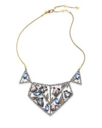 Alexis Bittar - Metallic Crystal-encrusted Mosaic Lace Bib Necklace - Lyst