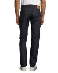 Shockoe Atelier - Blue Textured Cotton Denim Pants for Men - Lyst
