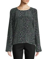 Equipment - Gray Abeline Printed Silk Top - Lyst