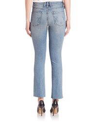 Mcguire - Blue Gainsbourg Baby Bootcut Crop Pants - Lyst