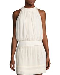 SemSem - White Maryam Pleated Top - Lyst