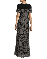 Tadashi Shoji - Black Sabi Embroidered Lace Gown - Lyst