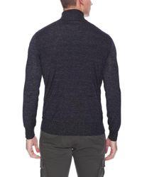 John Varvatos - Black Fine Cable Rib Turtle Neck Sweater for Men - Lyst