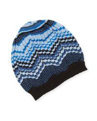 Missoni - Blue Cut-out Crochet Hat for Men - Lyst