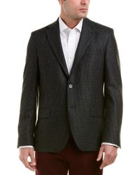 Ike Behar Green Logan Modern Fit Wool Sportcoat for men