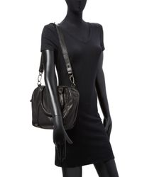 Liebeskind Black Lambskin Top Handle Bag