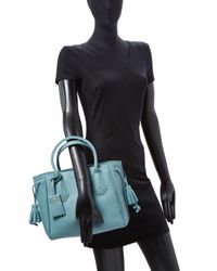 Longchamp | Blue Pnlope Small Leather Tote | Lyst