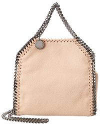 e9e7537c85c5 Stella McCartney Tiny Falabella Shaggy Deer Tote in Pink - Lyst